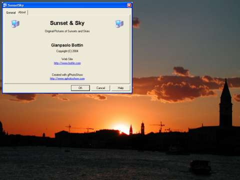 Click to view Sunset And Sky Screen Saver screenshots