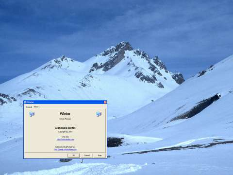 Windows 7 Snow of Winter Screen Saver 1.1 full